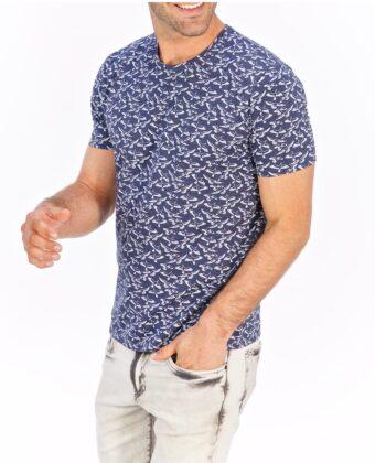 Koszulka męska LANIERI mewy jeans