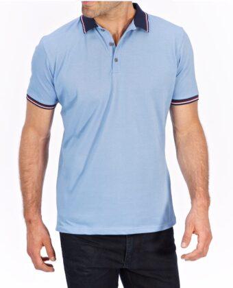 Koszulka polo męska LANIERI niebieska