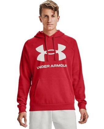 Bluza męska UNDER ARMOUR Rival Fleece Big Logo HD 1357093 czerwona