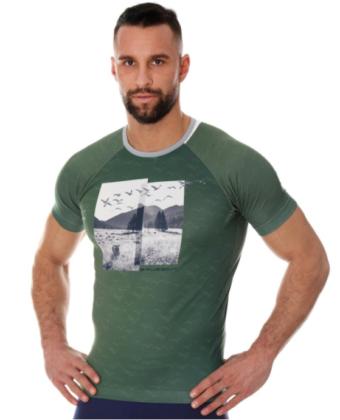 Koszulka termoaktywna męska zielona CITY AIR BRUBECK®