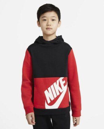 Bluza chłopięca NIKE CU9308-011 czarno-czerwona