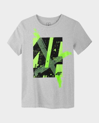 Koszulka chłopięca 4F JTSM002A szara