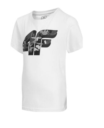 Koszulka chłopięca 4F JTSM005A biała