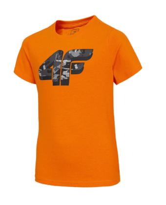 Koszulka chłopięca 4F JTSM005B pomarańczowa