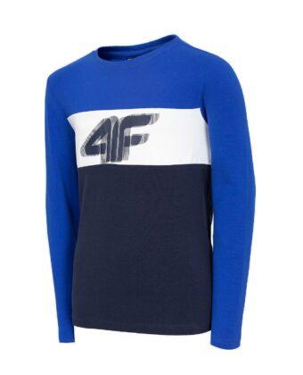 Koszulka longsleeve chłopięca 4F JTSML002A niebieska