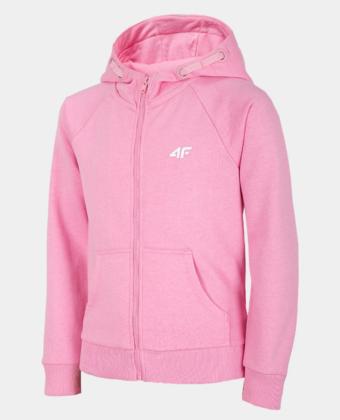 Bluza dziewczęca 4F JBLD001B różowa