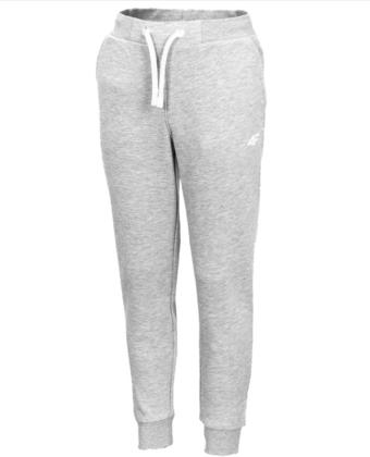 Spodnie dziewczęce 4F JSPDD001 szare