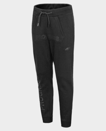 Spodnie chłopięce 4F JSPMD004 czarny