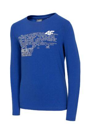 Koszulka longsleeve chłopięcy 4F JTSML003A niebieska
