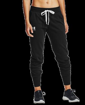 Spodnie damskie UNDER ARMOUR Rival Fleece 1356416 czarne
