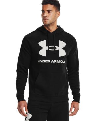 Bluza męska UNDER ARMOUR Rival Fleece Big Logo HD 1357093 czarna