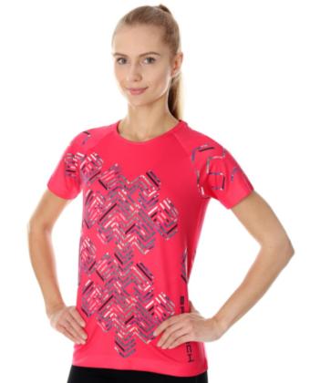 Koszulka termoaktywna damska malinowa ATHLETIC RUNNING AIR BRUBECK®