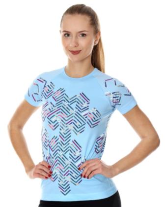 Koszulka termoaktywna damska niebieska ATHLETIC RUNNING AIR BRUBECK®