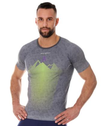 Koszulka termoaktywna męska ATHLETIC RUNNING AIR BRUBECK® szara