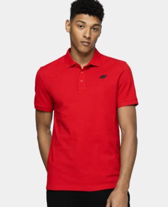 Koszulka polo męska 4F TSM008 czerwona