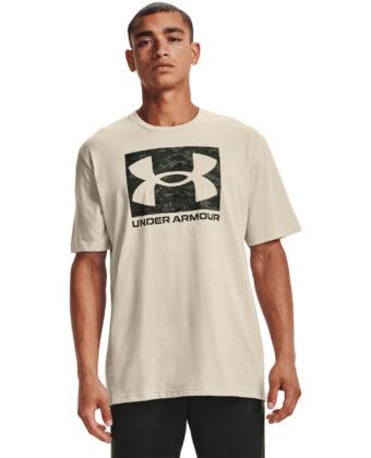 Koszulka męska UNDER ARMOUR 1361673 ABC Camo Boxed Logo beżowa
