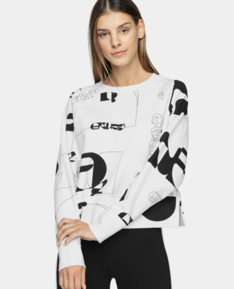 Bluza z kapturem 4F BLD220 biała