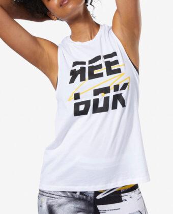 Koszulka REEBOK Meet You There Reebok Muscle DY8121 biała
