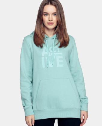 Bluza z kapturem 4F BLD013 miętowa