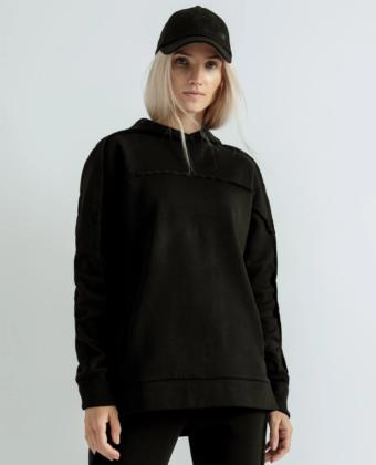 Bluza z kapturem 4F X ANNA LEWANDOWSKA BLD000 czarna