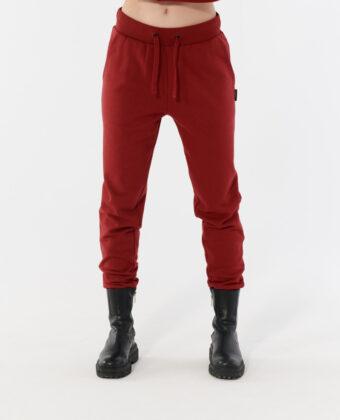Spodnie dresowe damskie OUTHORN SPDD601 bordowe