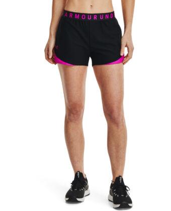 Spodenki damskie UNDER ARMOUR Play Up Shorts 3.0 1344552 czarno-różowe