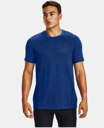 Koszulka treningowa UNDER ARMOUR Seamless Wave 1351450 niebieska