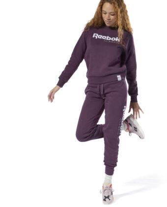 Spodnie dresowe damskie REEBOK AC GR Pant DT7269 fioletowe