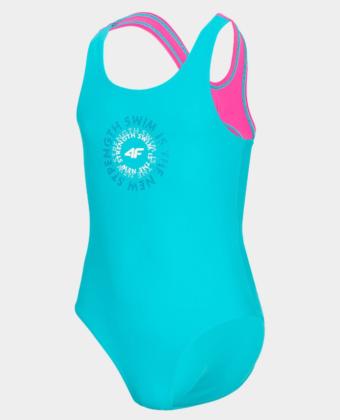 Kostium kąpielowy dziewczęcy 4F JKOS001 niebieski