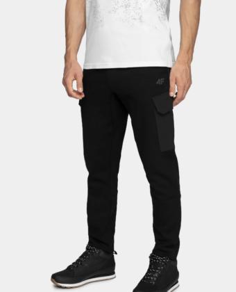 Spodnie dresowe męskie 4F SPMD201 czarne