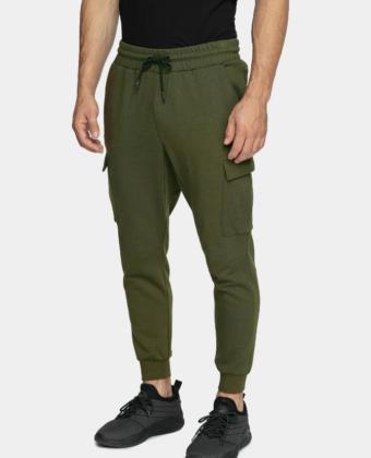 Spodnie dresowe męskie 4F SPMD303 khaki