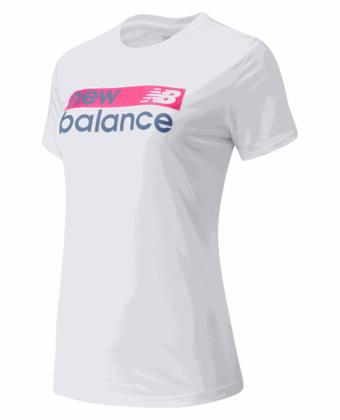 Koszulka damska NEW BALANCE WT03806WM biała