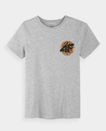 Koszulka chłopięca 4F JTSM012 szara