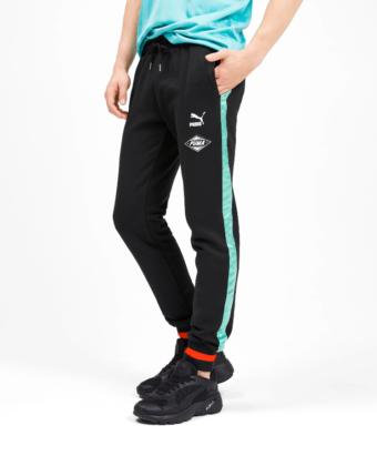 Spodnie dresowe męskie PUMA Cuffed Men's Sweatpants 595761 czarne