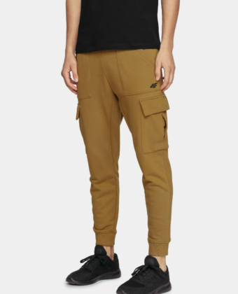 Spodnie dresowe męskie 4F SPMD207 musztardowe