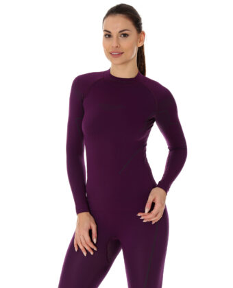 Bluza termoaktywna damska THERMO BRUBECK® fioletowa