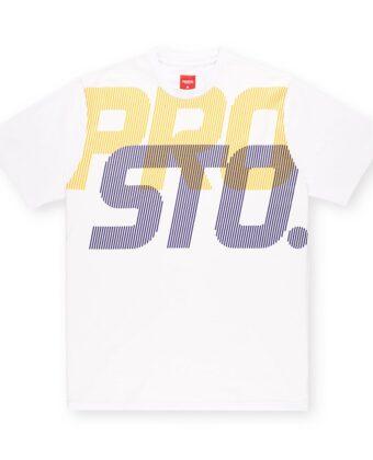 Koszulka męska PROSTO TS Lines biała