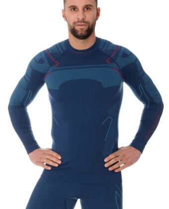 Bluza narciarska termoaktywna męska THERMO BRUBECK® jeansowa