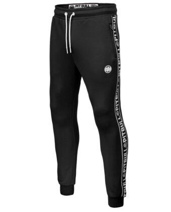 Spodnie dresowe męskie PIT BULL Tape Logo czarne