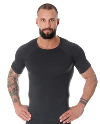 Koszulka męska z wełną merino BRUBECK® ACTIVE WOOL grafit