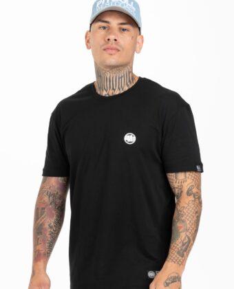 Koszulka męska PIT BULL Small Logo czarna