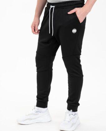 Spodnie dresowe męskie PIT BULL Oldschool Small Logo czarne
