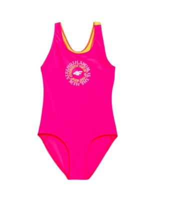 Kostium kąpielowy dziewczęcy 4F JKOS001 różowy