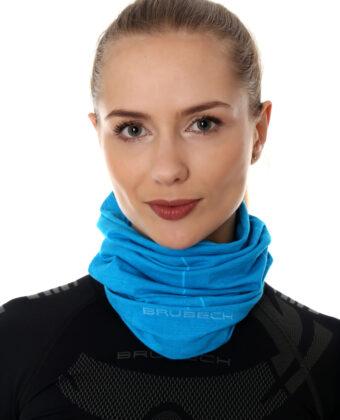 Komin unisex wełniany BRUBECK® błękit