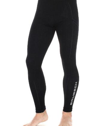 Spodnie termoaktywne męskie EXTREME WOOL BRUBECK® czarne