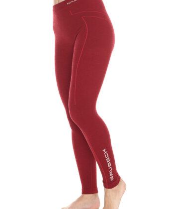 Spodnie termoaktywne damskie EXTREME WOOL BRUBECK® burgund