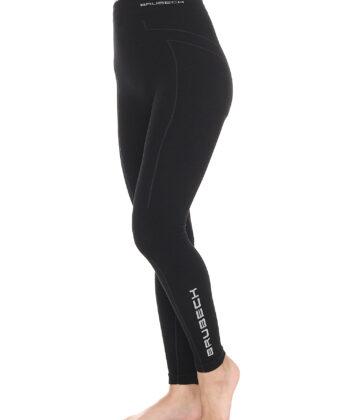 Spodnie termoaktywne damskie EXTREME WOOL BRUBECK® czarne