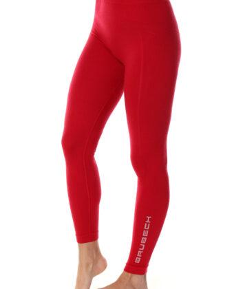Spodnie termoaktywne damskie EXTREME WOOL BRUBECK® malinowe