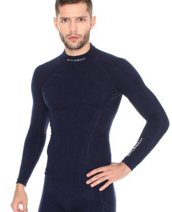 Bluza termoaktywna męska EXTREME WOOL BRUBECK® granatowa