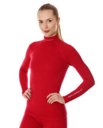 Bluza termoaktywna damska EXTREME WOOL BRUBECK® malinowa